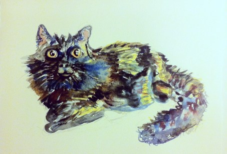 Amy Cat, Watercolour