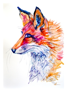 fox side portrait