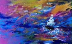ship sea pink